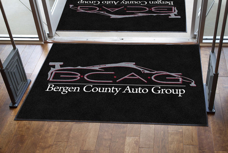 Bergen county auto group 4 X 6 Rubber Backed Carpeted HD - The Personalized Doormats Company