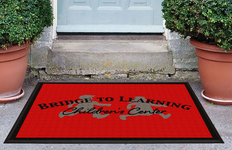 Bridge To Learning Too 3 x 4 Luxury Berber Inlay - The Personalized Doormats Company