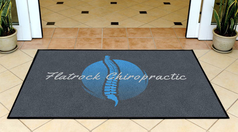 Flatrock Chiro 3 X 5 Rubber Backed Carpeted HD - The Personalized Doormats Company
