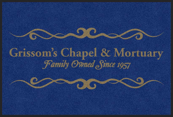 GRISSOMS CHAPEL AND MORTUARY 4 X 6 Rubber Backed Carpeted HD - The Personalized Doormats Company