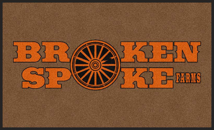 Broken Spoke Farms 3 X 5 Rubber Backed Carpeted HD - The Personalized Doormats Company