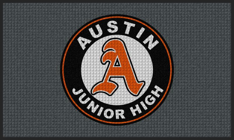Austin Junior High School 3 x 5 Waterhog Impressions - The Personalized Doormats Company