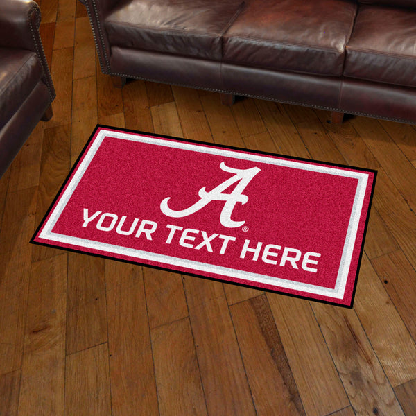 3' x 5' University Of Alabama Personalized Doormat or Floormat