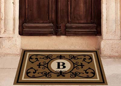 Edinburgh Estate Doormat Monogrammed Suede Estate - The Personalized Doormats Company