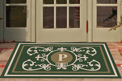 Edinburgh Estate Doormat Monogrammed Hunter Green Estate - The Personalized Doormats Company