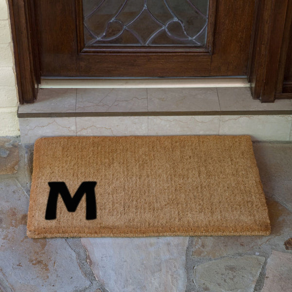 "Monogram Luxury Coir Doormat - 22"" x 36"""