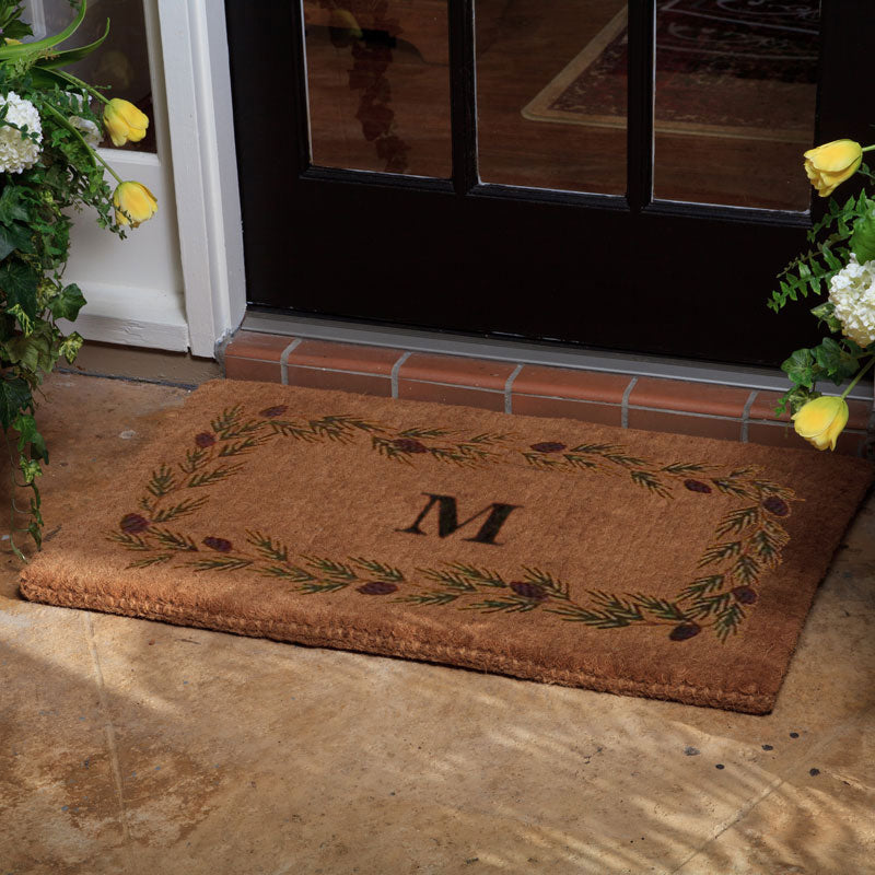Luxury Coir Evergreen Border Doormat