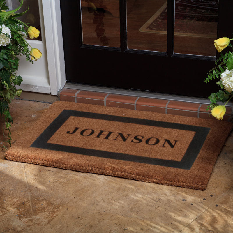 Luxury Coir Single Border Doormat