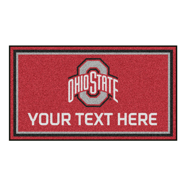 3' x 5' Ohio State University Personalized Doormat or Floormat Personalized Sports Logo - The Personalized Doormats Company