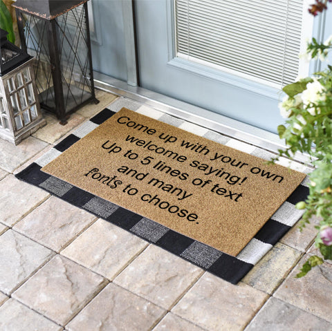 No Border Personalized Doormat