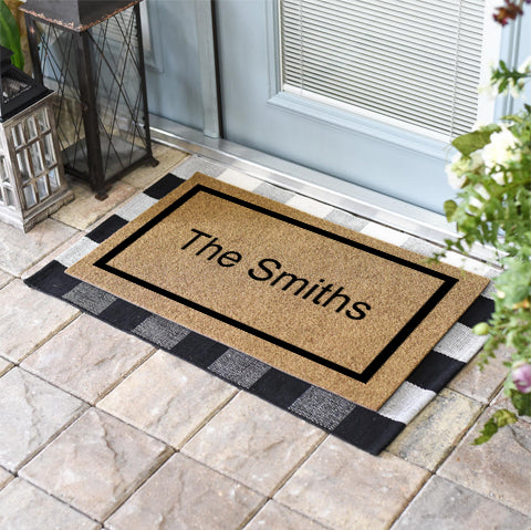 Single Border Personalized Doormat