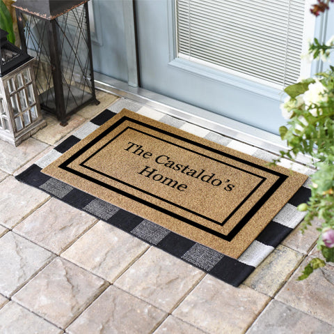 Double Border Personalized Doormat