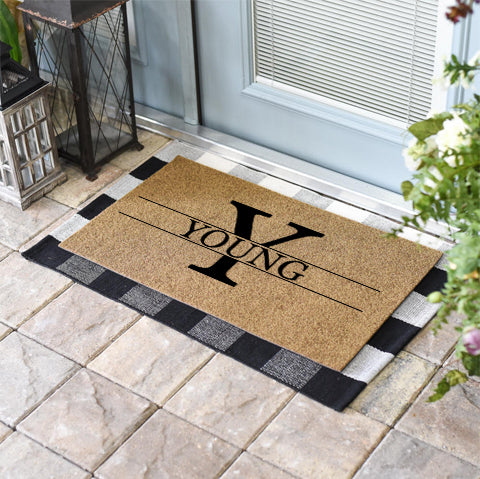 Monogram + Name Doormat