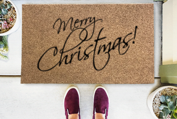 Merry Christmas Coir Doormat-Funny Mat Classic and Duracoir-The Personalized Doormats Company