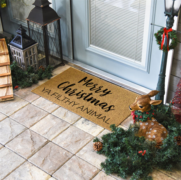 Merry Christmas Ya Filthy Animal Coir Doormat