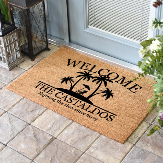 Palm Tree Welcome Doormat