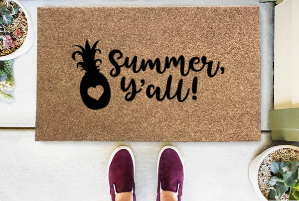 Summer, Y'all Coir Doormat-Funny Mat Classic and Duracoir-The Personalized Doormats Company