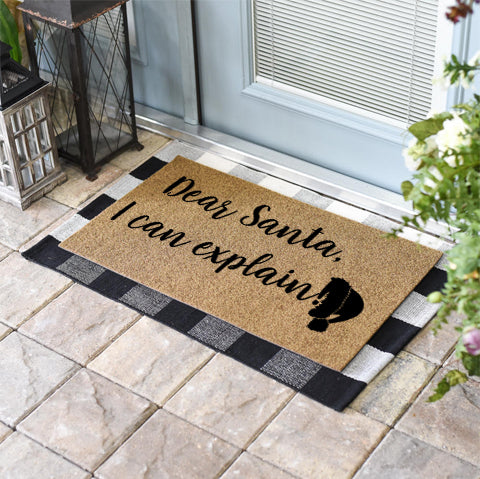 Dear Santa, I Can Explain Coir Doormat