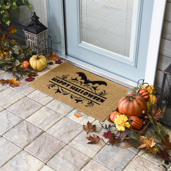 Happy Halloween Coir Doormat Funny Mat Classic and Duracoir - The Personalized Doormats Company