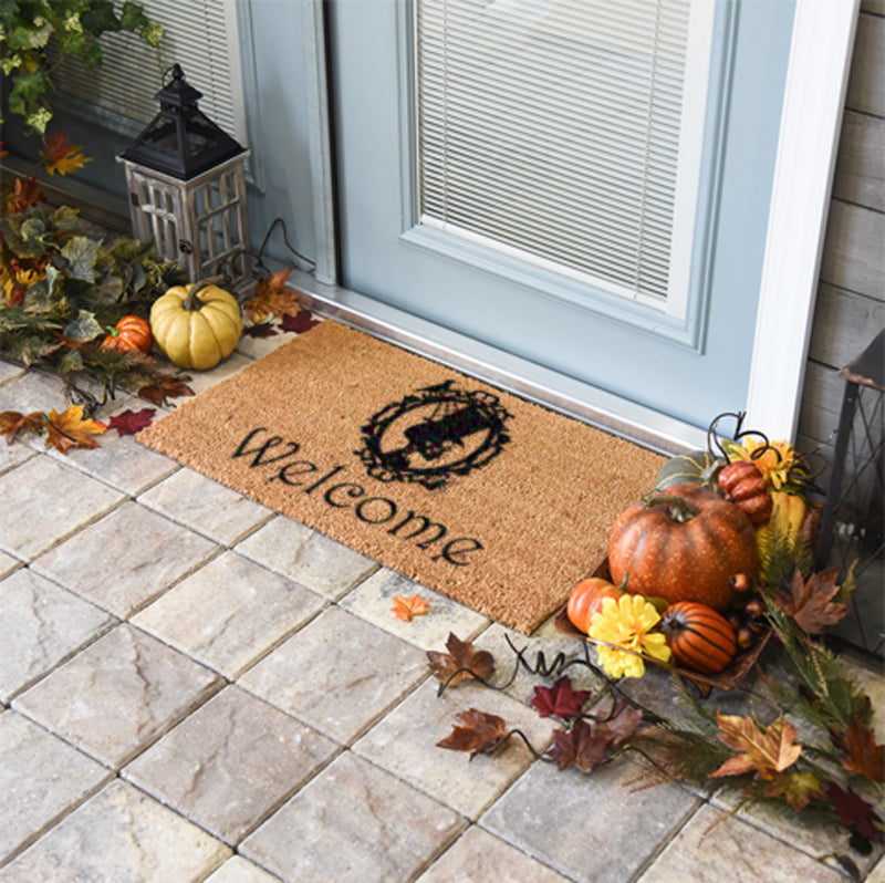 Skeleton Welcome Coir Doormat-Funny Mat Classic and Duracoir-The Personalized Doormats Company