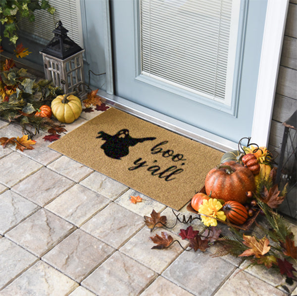 Boo, Y'all Coir Doormat Funny Mat Classic and Duracoir - The Personalized Doormats Company
