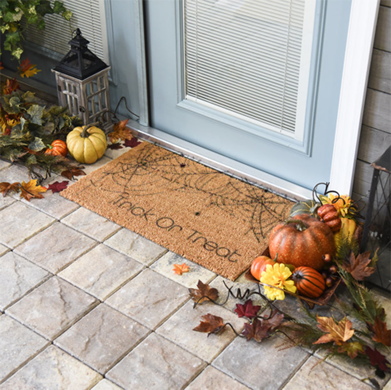 Trick Or Treat Spider Web Doormat 18 x 30 Classic Coir