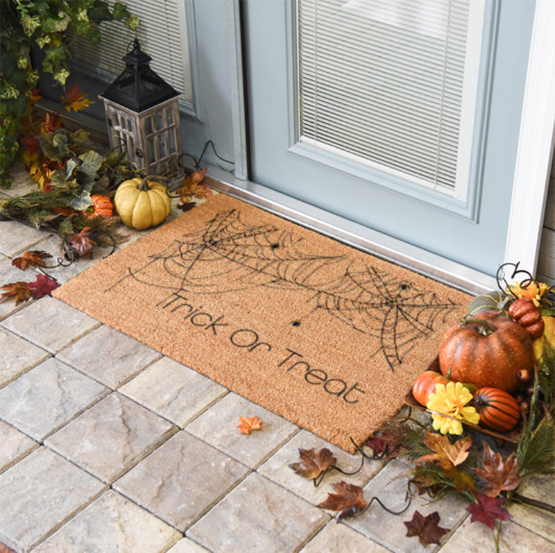 Trick Or Treat Spider Web Doormat 2 x 3 Classic Coir