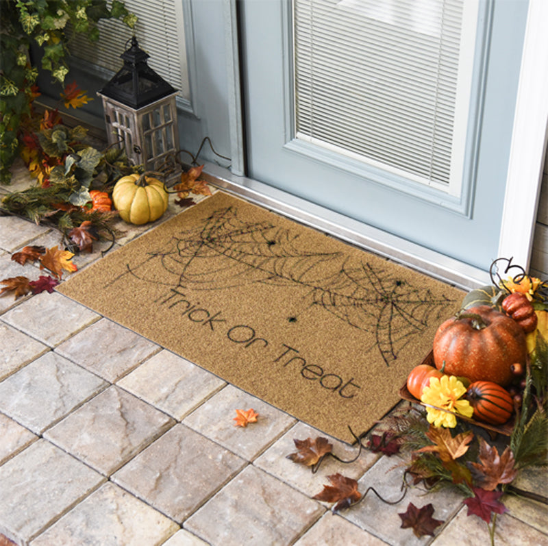 Trick Or Treat Spider Web Doormat 2 x 3 Duracoir