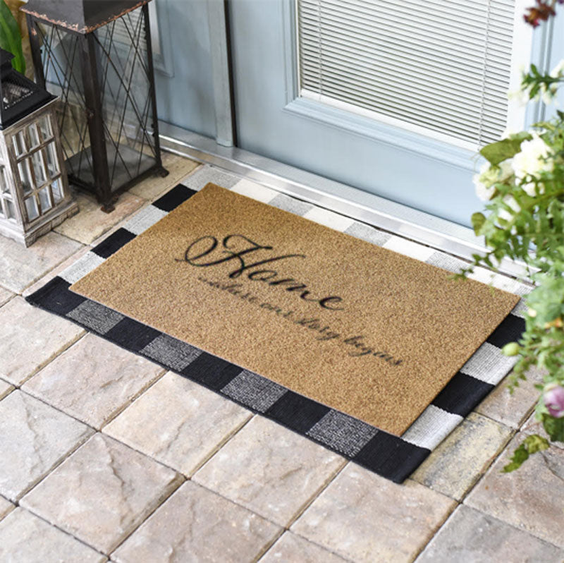Home Is Where Our Story Begins Doormat