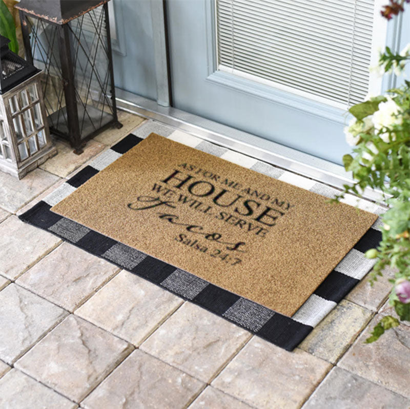 As For Me And My House We Will Serve Tacos Doormat
