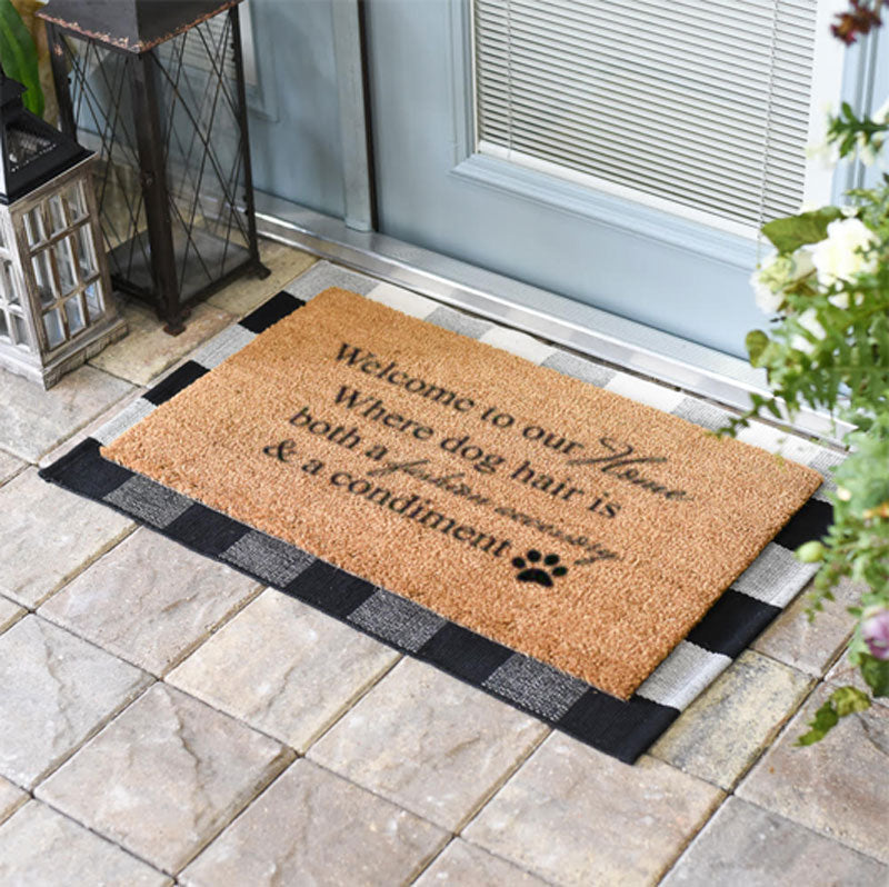 Welcome To Our Home Where Dog Hair Is Both A Fashion Accessory And A Condiment Doormat