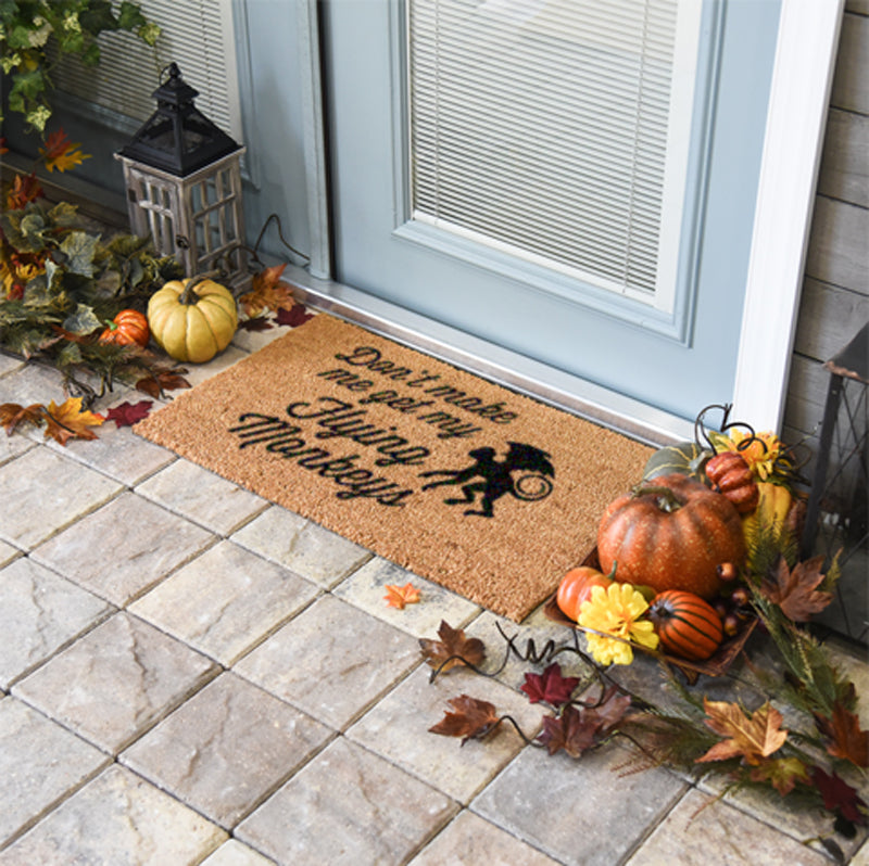 Don't Make Me Get My Flying Monkeys Doormat
