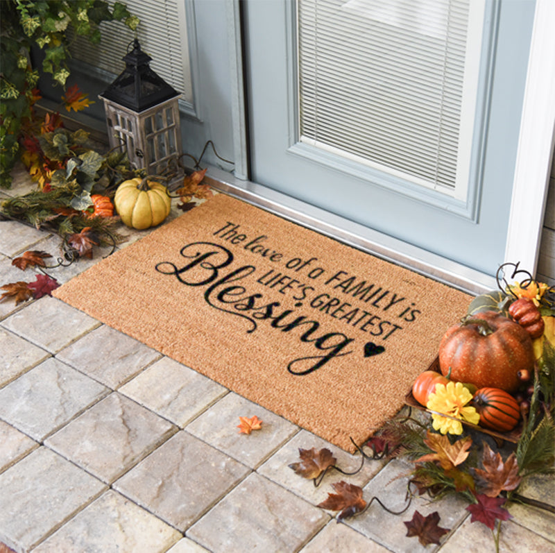 The Love Of A Family Is Life's Greatest Blessing Doormat