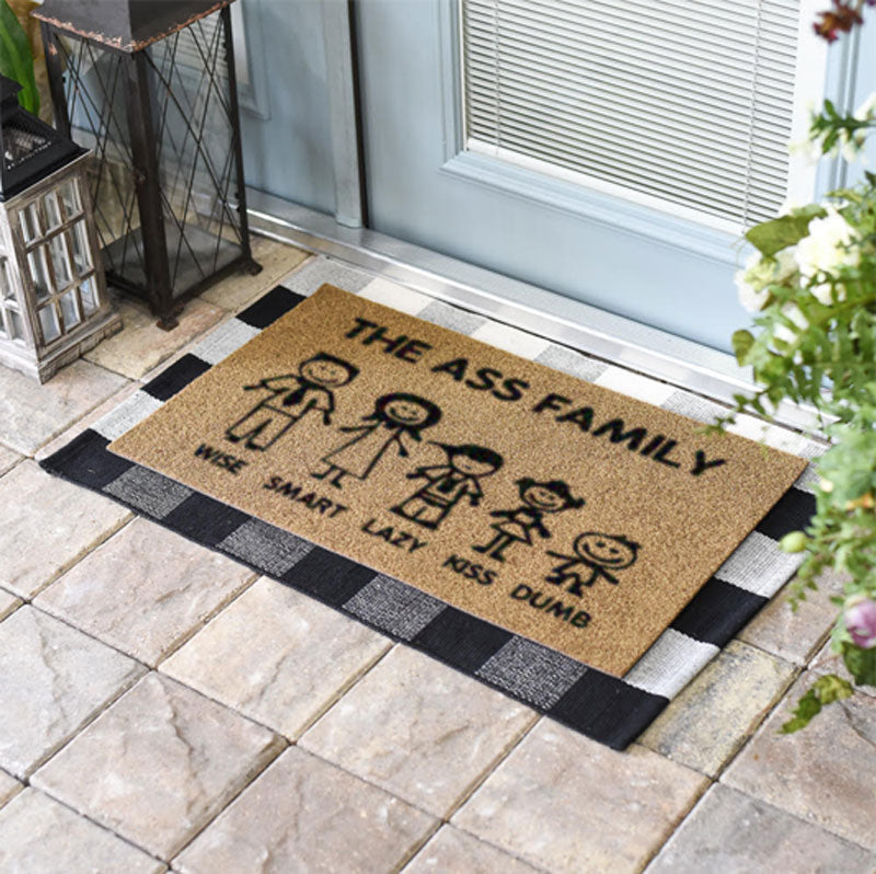 The Ass Family Doormat