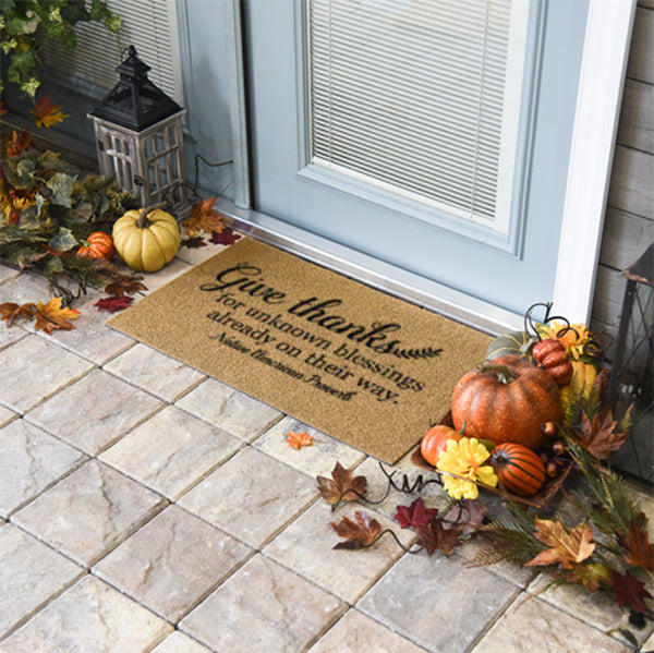 Give Thanks Doormat