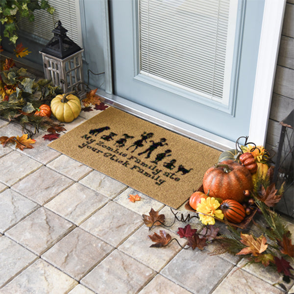 My Zombie Family Ate Your Stick Family Doormat