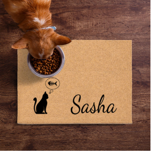 Thinking Fish Personalized Cat Petmat