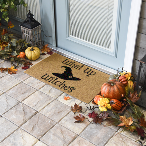 What Up Witches Halloween Doormat