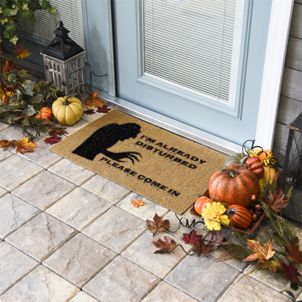 I'm Already Disturbed Halloween Doormat
