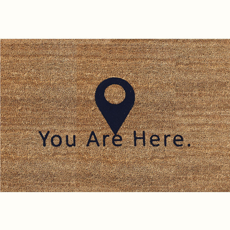 24 x 36 Classic Coir Funny Mat - You are here