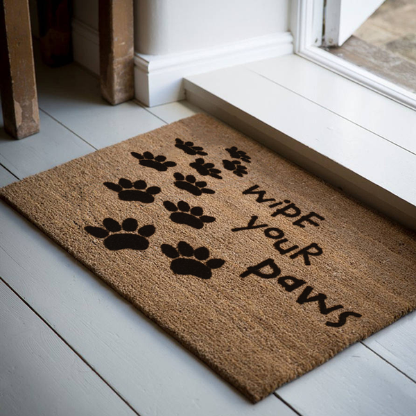 18 x 30 Classic Coir Doormat Wipe Your Paws Welcome Mat - The Personalized Doormats Company