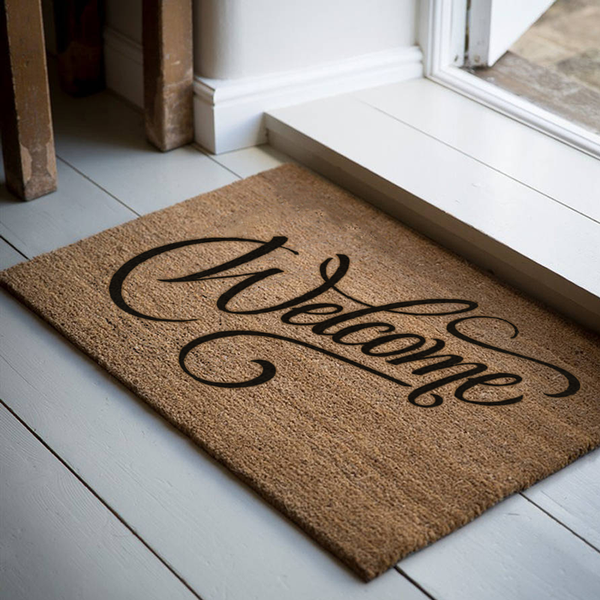 18 x 30 Classic Coir Welcome - Swirl Welcome Mat - Realtor - The Personalized Doormats Company