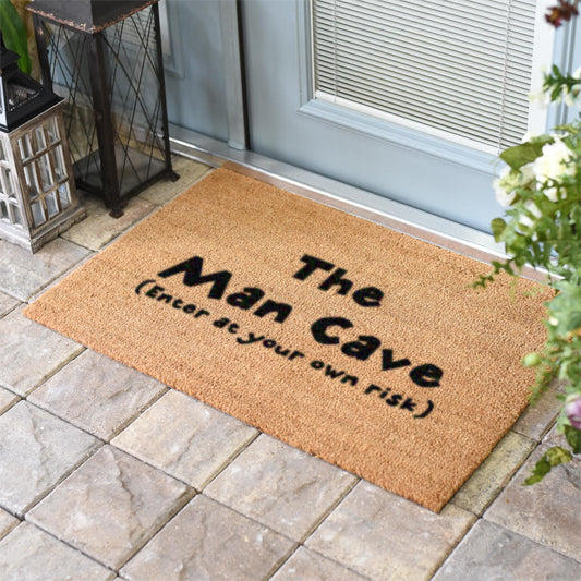 Man Cave Enter At Your Own Risk Coir Doormat
