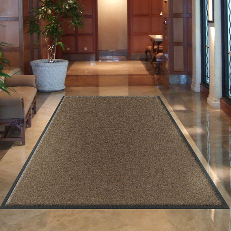 Rubber Backed Carpeted Solid Color Mat