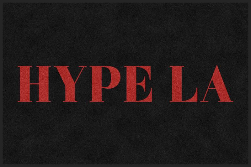 Hype la 4 X 6 Rubber Backed Carpeted HD - The Personalized Doormats Company