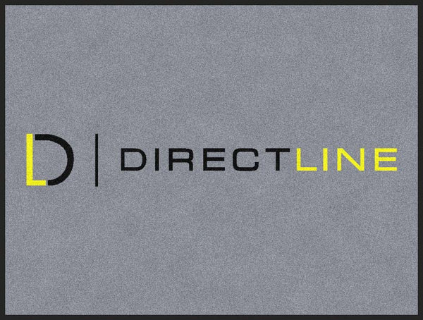 Direct Line 3 x 4 Rubber Backed Carpeted HD - The Personalized Doormats Company