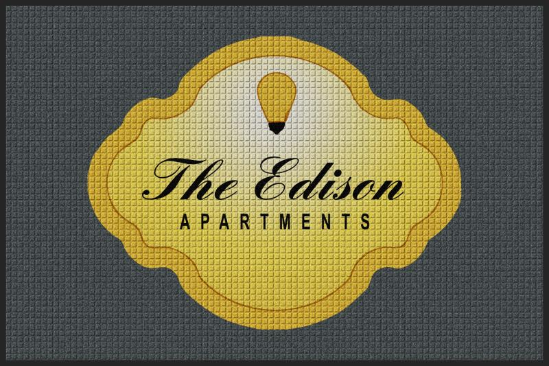 Edison Entrance Rug 4 X 6 Waterhog Impressions - The Personalized Doormats Company