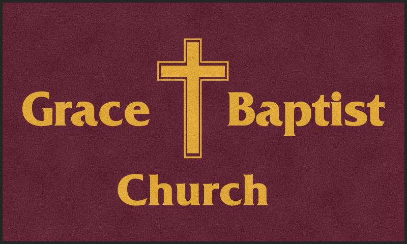 Grace Baptist Church 6 X 10 Rubber Backed Carpeted HD - The Personalized Doormats Company