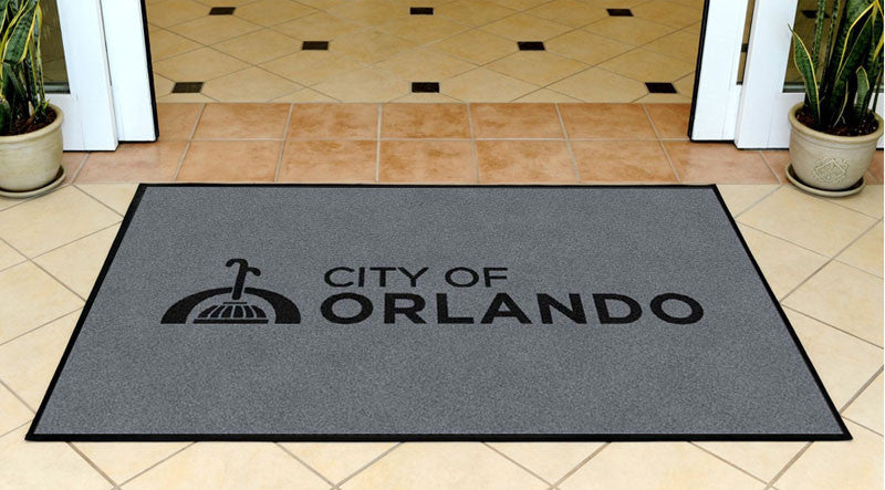City of Orlando 3 X 5 Rubber Backed Carpeted HD - The Personalized Doormats Company