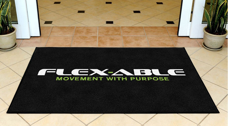 Flex-Able 3 X 5 Rubber Backed Carpeted HD - The Personalized Doormats Company